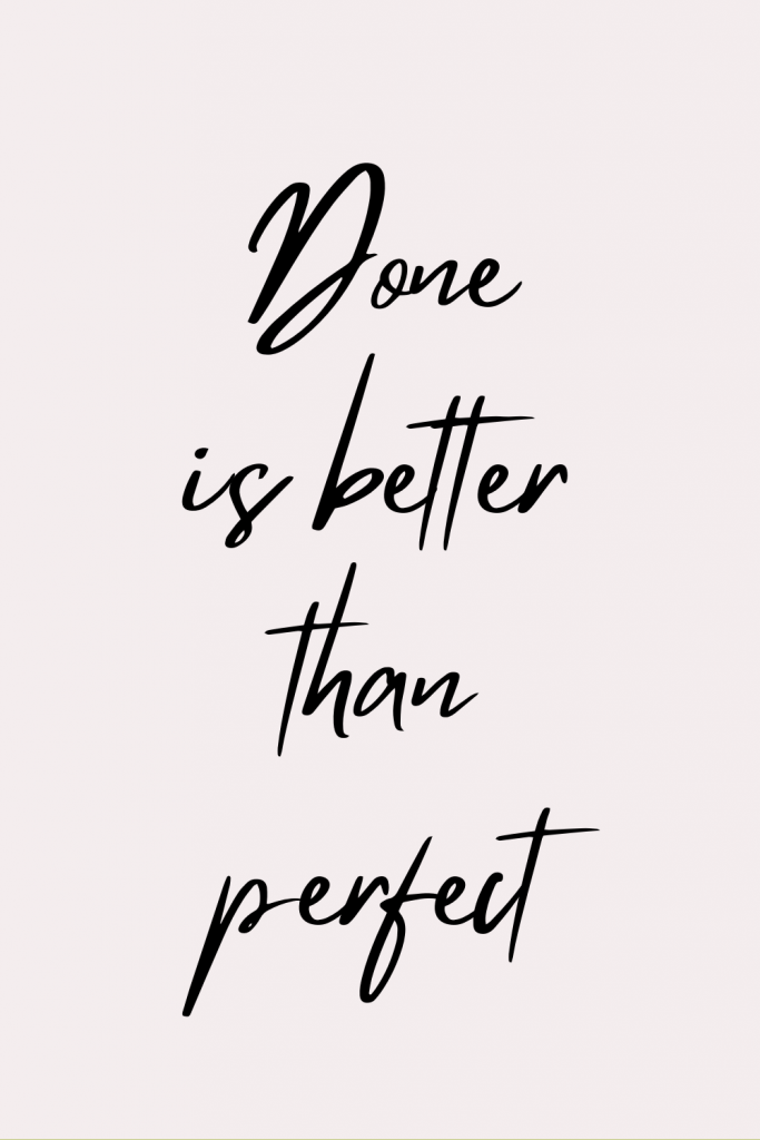 best perfectionism quote